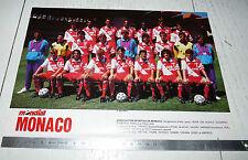 CLIPPING POSTER FOOTBALL 1988-1989 AS MONACO ASM ROCHER LOUIS II