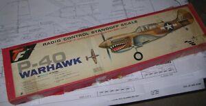 "Model Airplane Kit (RC): Top Flite P-40 WARHAWK Standoff Scale 60"" wingspan RC17"