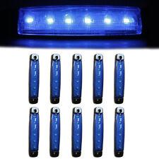 10x 24V Side Marker Blue Lights 6 LED Indicator Signal Lamps Fits Scania Daf Man