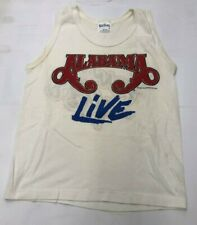 New listing Vintage Rock Tank Top- Alabama Live Nos S White Red Blue 1988 Tour 80's