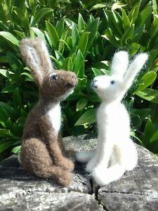 Hare, Badger  & Fox Needle Felt Kit 100% British wool NO SPONGE UNBOXED