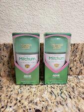 Nib Mitchum Deodorant Clinical Gel Powder Scent Lot of 2