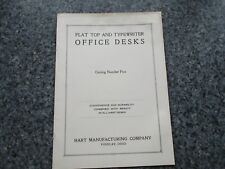 Vintage Flat Top And Typewriter Office Desks Catalog #5 Hart Company Findlay O.