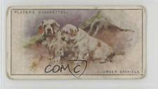 1925 Player's Dogs Tobacco #34 Clumber Spaniels Non-Sports Card 2u1