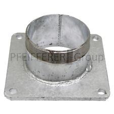 """Stahlflansch mit Rohrnippel Ausführung 4"""" Lochabstand 150 x 150 mm"""