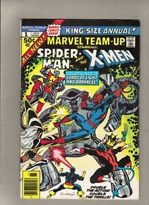 MARVEL TEAM-UP KING-SIZE ANNUAL #1_1976_VF MINUS_SPIDER-MAN-EARLY APP NEW X-MEN!