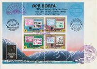 KOREA 1980 3.Int.Briefmarkenmesse Essen Klbg SST Zeppelin, Marke auf Marke
