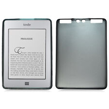Gray TPU Gummy Skin Case Cover with Textured Design for Kindle Touch
