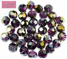 RARE 8x Swarovski Crystal Round Amethyst Dorado Beads 5000 10mm Special Edition