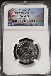 2016-D 25C Cumberland Gap NGC MS 67 PL 2ND FINEST
