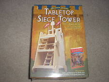 New Sealed Sterling Tabletop Siege Tower 15 Inch Model Includes Book