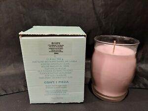 NIB PartyLite Strawberry Rhubarb Barrel Jar Candle G11272 11.4 oz