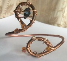 HANDMADE COPPER CUFF, HAWAII, BRACELET with SWAROVSKI CRYSTALS JEWELRY!! AWESOME