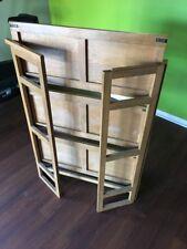 Folding Bookcase 4 Shelf Rack Book Stand Storage Organizer Home Office Furniture