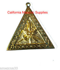 Scottish Rite Officers Jewel Master Of Ceremonies  Golden Memphis Misraim Rite