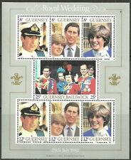Guernsey - Hochzeit Charles und Diana Block 3 postfrisch 1981 Mi. 225-231