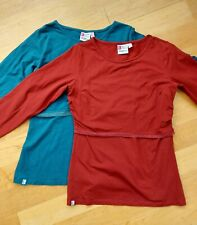 Two B Shirt Original Nursing Breastfeeding Long Sleeve Size 14 - Berry & Teal