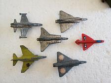 "Vintage Fighter Jets F-16 F-4 Phantom Dassault Mirage MIG Chrome Steel Planes 3"""