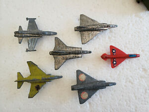 Vintage Fighter Jets F-16 F-4 Phantom Dassault Mirage MIG Chrome Steel Planes 3""