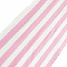 "lovemyfabric Poly Cotton 1 Inch Pink & White Striped Table Runner 12""X72"" Inch"
