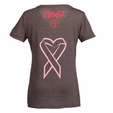 Zumba® Share the Love Crew Neck Tee ~ Small ~ Gray