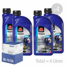 Engine Oil and Filter Service Kit 4 LITRES Millers TRIDENT 5W-30 Semi 4L