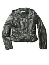 ladies black leather jacket from Whistles size 10
