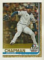 2019 Topps Update GOLD Parallel #US7 AROLDIS CHAPMAN #656/2019 New York Yankees