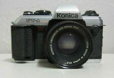 Konica FT-1 Motor SLR Film Camera W/Hexanon AR 50mm Lens VINTAGE