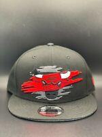 Chicago Bulls New Era Logo Tear C1 9FIFTY Snapback Original Fit - Black
