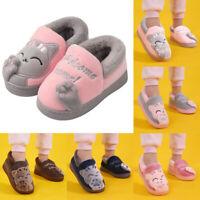 Kids Baby Boy Girls Winter Slippers Cute Cartoon Cat Non-slip Home Indoors Shoes