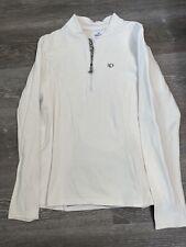 Pearl Izumi Women's Cycling Jersey Select Series Long Sleeve  XL White 1/4 Zip