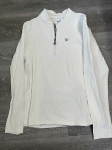 Pearl Izumi Women's Cycling Jersey Select Series Long Sleeve  XL White 1/4 Zip