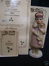 "Jan Hagara Porcelain Ornament ""Jill"" 1 yr Ltd Mib/Coa"