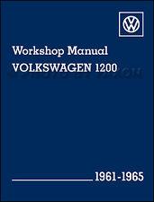 VW Beetle Bug Karmann Ghia Shop Manual 1961 1962 1963 1964 1965 Repair Service