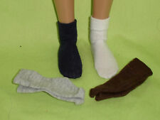 "4 pair socks for 17"" male fashion dolls such as Matt or Trent"