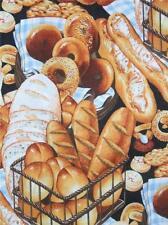 Boulangerie Black Bread Croissant Baguette Bakery Alexander Henry Fabric Yard