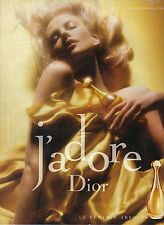 "PUBLICITE ADVERTISING 2006 CHRISTIAN DIOR parfum ""J'adore""  CHARLIZE  THERON"