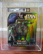 STAR WARS POTF2 Boba Fett Deluxe ErRoR NO CHEST EMBLEM AFA 80