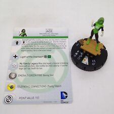 Heroclix War of Light set Jade #106 Limited Edition figure w/card!