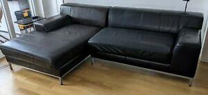 IKEA Kramfors 3er Couch mit Recamiere Leder  *top Zustand*