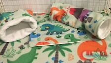 Custom Fleece Cage Liner and Accessories for Guinea Pigs, Hedgehogs, Ferrets