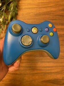 OFFICIAL Microsoft XBox 360 Limited Blue Wireless Controller TESTED