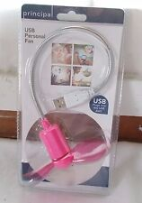 Principal USB Personal Fan Pink Laptops Pc's Portable DVD/TV/Media Player