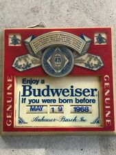 Budweiser If You Were Born Before vintage light