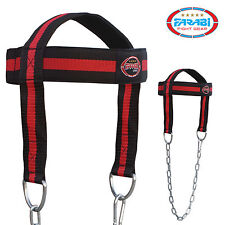 FARABI SPORTS head harness dipping training neck builder belt with free chain