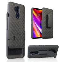 For LG G7 ThinQ 2018 (G710) Slim Armor Shell Holster Combo Case + Belt Clip