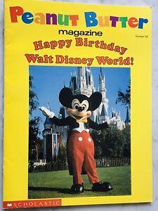 RARE PEANUT BUTTER MAGAZINE HAPPY BIRTHDAY WALT DISNEY WORLD MICKEY MOUSE NEW