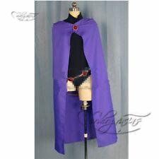 Anime Manga Hero Teen Titans Raven Cosplay Costume Made