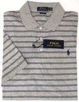 NEW $98 Polo Ralph Lauren Gray Stripe Short Sleeve Shirt Mens Classic Fit NWT